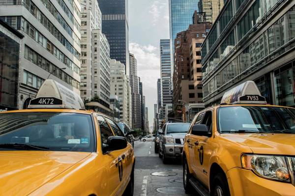 Photograph - Ny Taxis by Top Wallpapers