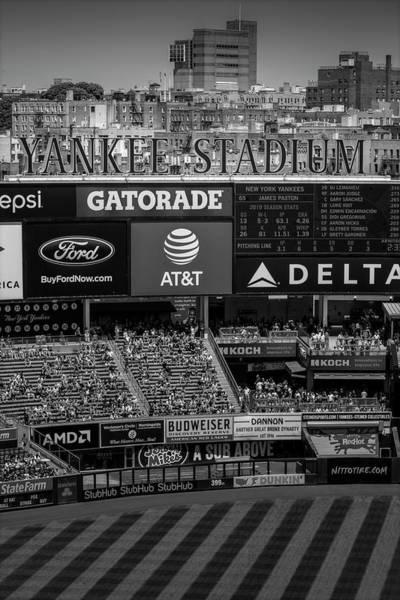 Photograph - Ny Yankee Stadium Bw by Susan Candelario