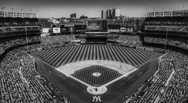 Photograph - Ny Yankees Stadium Bw by Susan Candelario