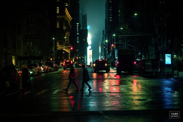 Wall Art - Photograph - Nyc At Night by Sean Dimitrie