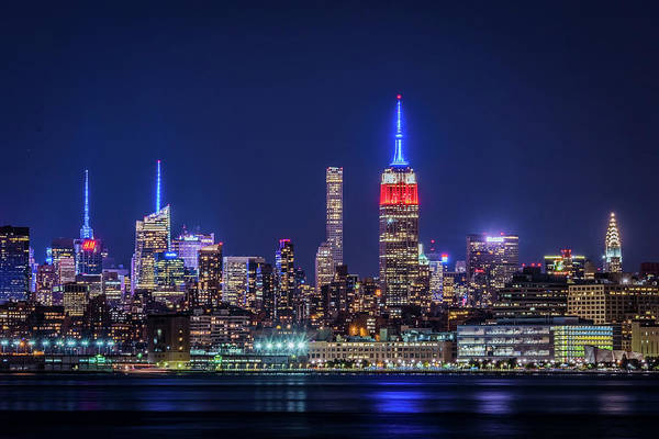 Photograph - Nyc At The Blue Hour by Francisco Gomez
