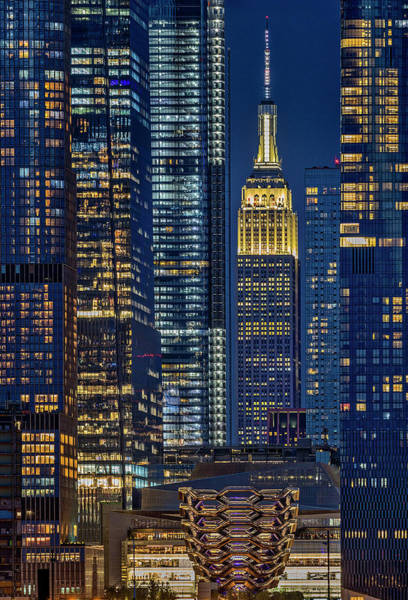 Photograph - Nyc Empire State And Vessel by Susan Candelario