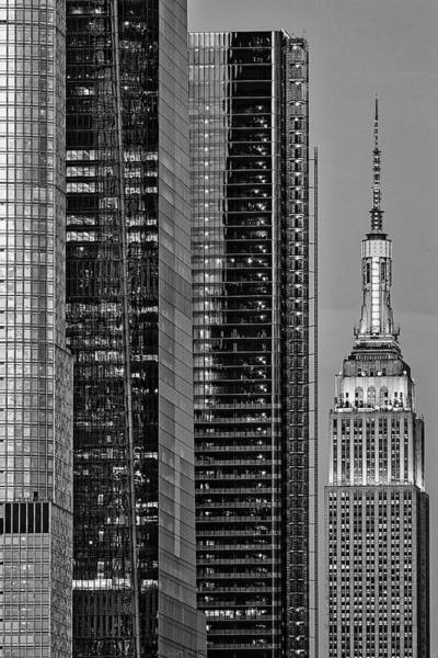 Photograph - Nyc Empire State Building  Bw by Susan Candelario