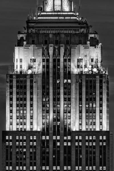 Photograph - Nyc Empire State Building Esb Broadcasting Bw  by Susan Candelario