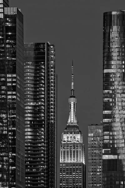 Photograph - Nyc Empire State Building Esb Bw by Susan Candelario