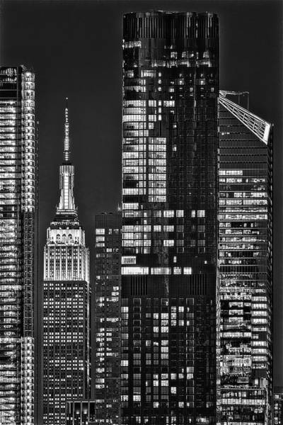 Wall Art - Photograph - Nyc Esb Empire State Building  Bw by Susan Candelario