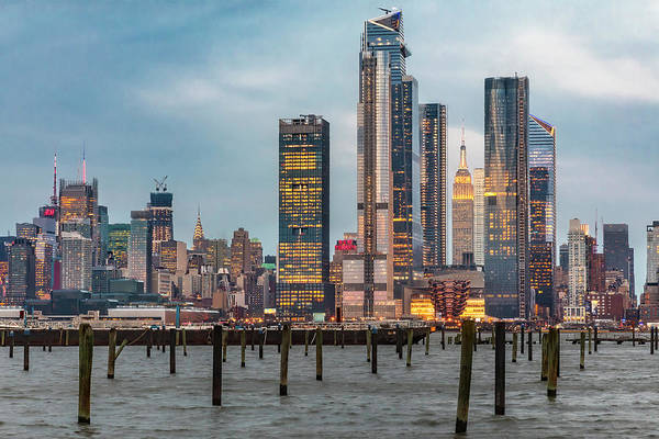 Photograph - Nyc Esb Skyline Hudson Yards  by Susan Candelario