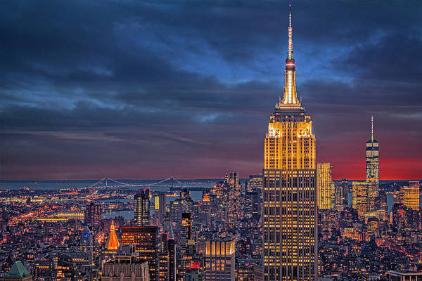 Photograph - Nyc Esb Wtc Golden Hour by Susan Candelario