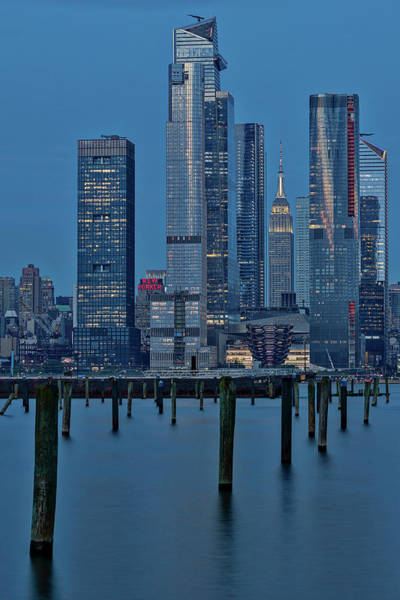 Photograph - Nyc Hudson Yards Blues by Susan Candelario