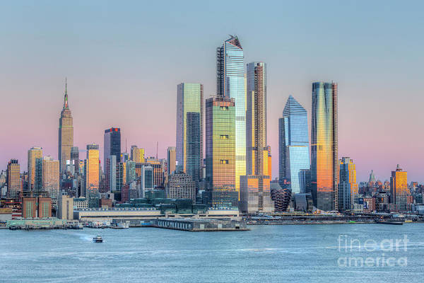 Wall Art - Photograph - Nyc Hudson Yards Development At Sunset I by Clarence Holmes