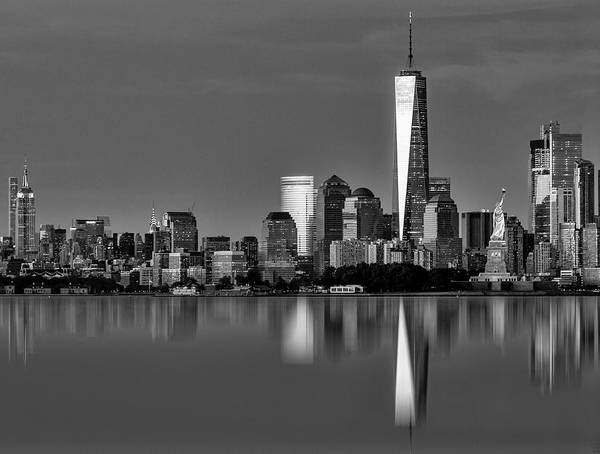 Photograph - Nyc Icons And  Landmarks Bw by Susan Candelario