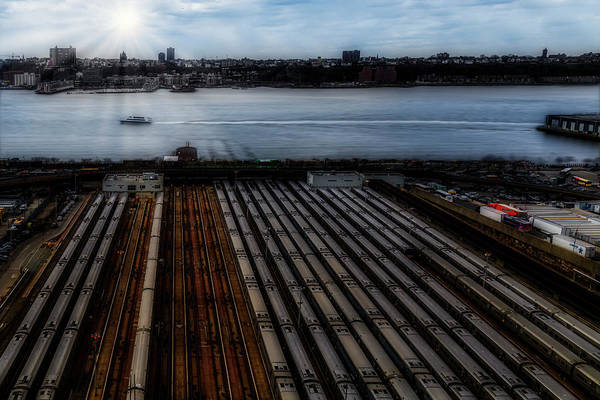 Photograph - Nyc Mta West Side Yard by Susan Candelario