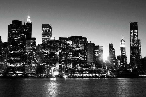 Lower Manhattan Photograph - Nyc Skyline At Sunset by Lisa-blue