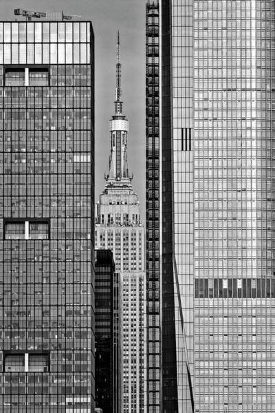 Photograph - Nyc Sunset Empire State  Bw by Susan Candelario