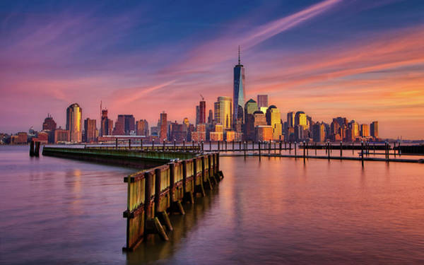 Wall Art - Photograph - Nyc Sunset by Jerry Fornarotto