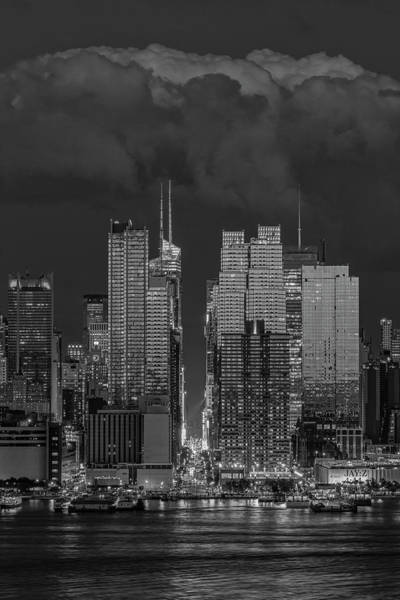 Photograph - Nyc Times Square Pride Bw by Susan Candelario