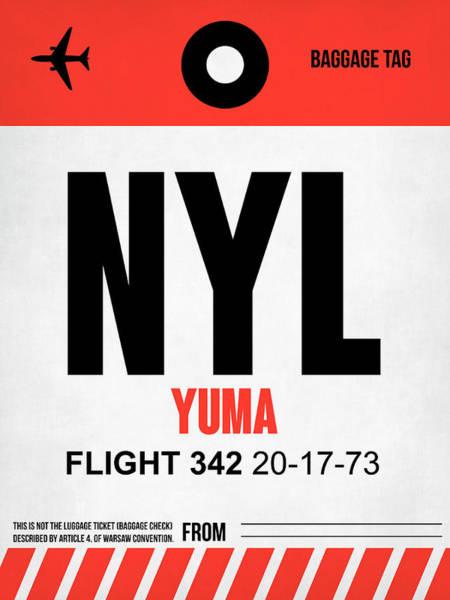 Travel Destination Wall Art - Digital Art - Nyl Yuma Luggage Tag I by Naxart Studio