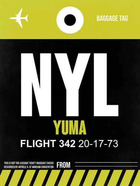 Travel Destination Wall Art - Digital Art - Nyl Yuma Luggage Tag II by Naxart Studio
