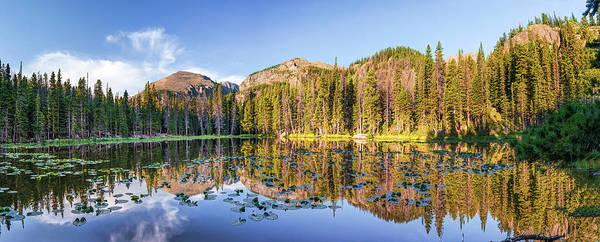 Photograph - Nymph Lake Rocky Mountain Landscape Colorado Panorama  by Gregory Ballos