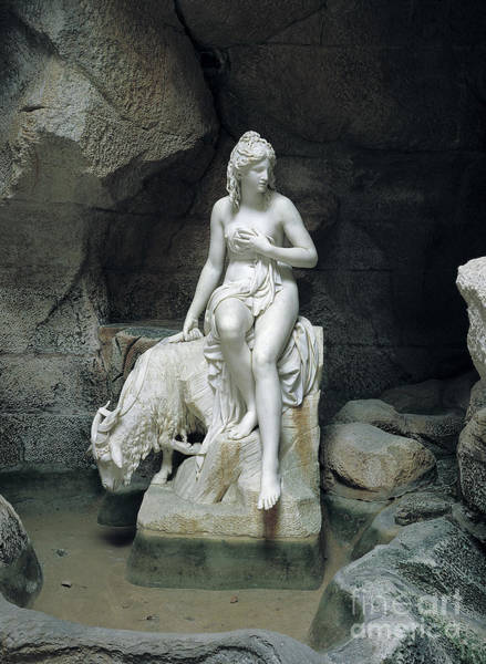 Wall Art - Sculpture - Nymph With A Goat, From The Laiterie De La Reine by Pierre Julien