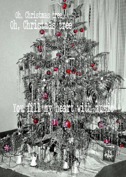Photograph - O Tannenbaum Quote by JAMART Photography