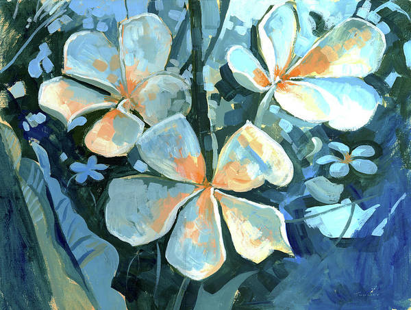 Alla Prima Painting - Oahu Botanicals, North Shore by Catherine Twomey