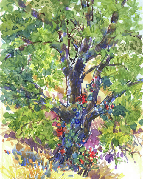 Painting - Oak And Poison Ivy by Judith Kunzle