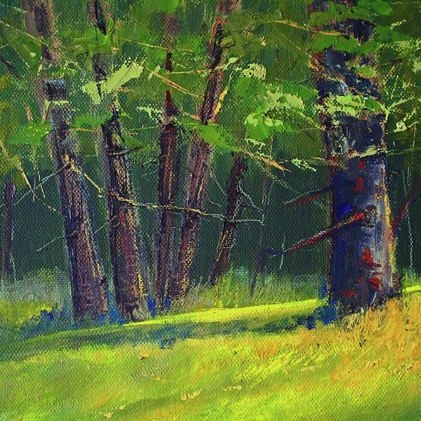 Wall Art - Painting - Oak Forest Landscape by Nancy Merkle