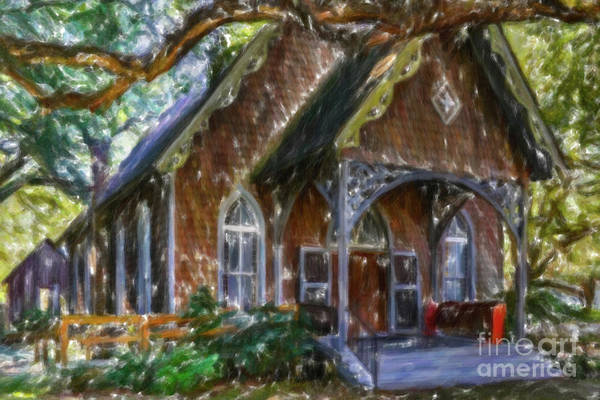 Photograph - Oak Street - Mcclellanville Sc by Dale Powell