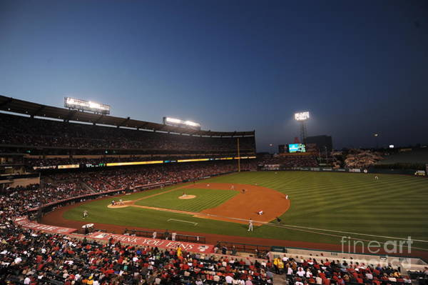 Photograph - Oakland Athletics V Los Angeles Angels by Rich Pilling