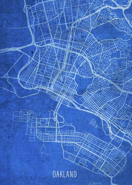 Wall Art - Mixed Media - Oakland California City Street Map Blueprints by Design Turnpike