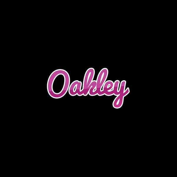 Wall Art - Digital Art - Oakley #oakley by TintoDesigns