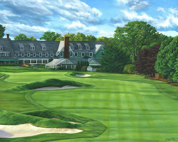 Painting - Oakmont Country Club by Steph Moraca
