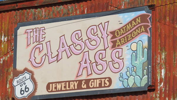 Wall Art - Photograph - Oatman Arizona Sign 3 by Kay Novy
