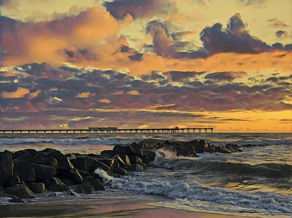 Ob Sunset No. 3 Art Print