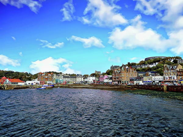 Photograph - Oban Town Harbor by Anthony Dezenzio