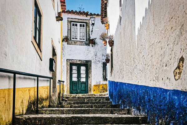 Photograph - Obidos Alley Steps - Portugal by Stuart Litoff