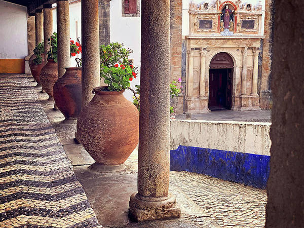 Photograph - Obidos Veranda View by Jill Love