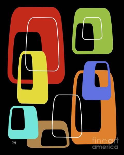 Digital Art - Oblongs On Black 2 by Donna Mibus