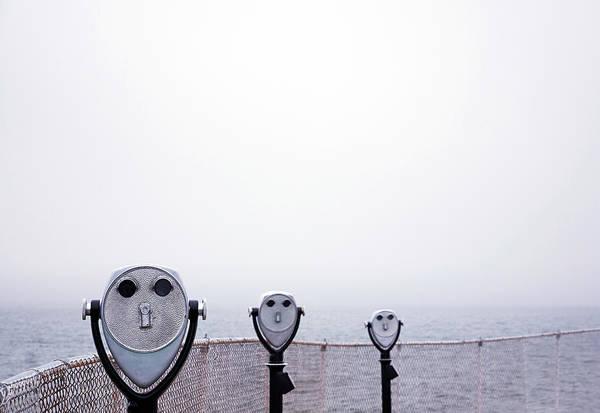 Binoculars Photograph - Observation Deck Binoculars Towards by Bob Carey