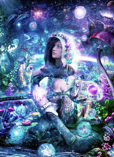 Harmony Digital Art - Observing Our Celestial Synergy by Cameron Gray