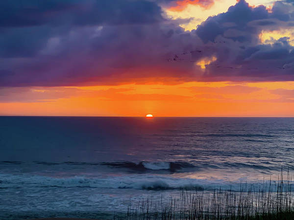 Photograph - Obx Sunrise On The Last Day by Lora J Wilson