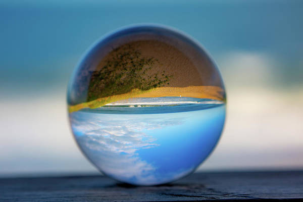 Photograph - Obx Through The Lens Ball by Lora J Wilson