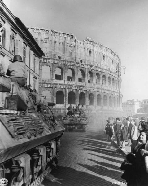 Armored Vehicle Photograph - Occupation Of Rome by Hulton Archive