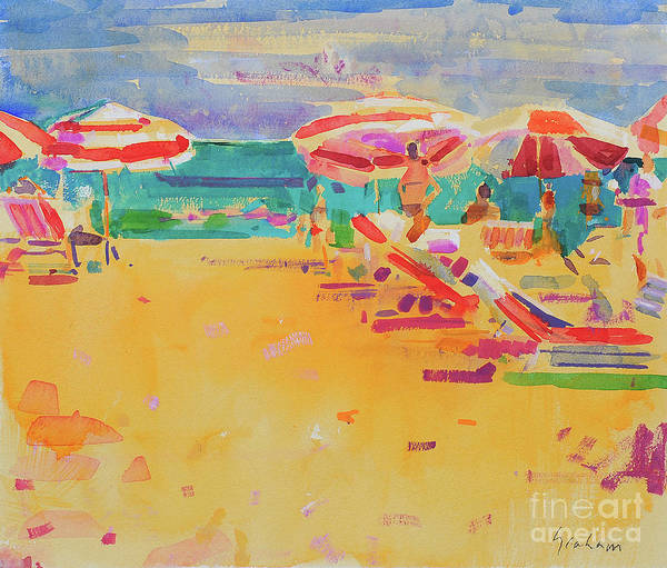 Wall Art - Painting - Ocean Beach by Peter Graham