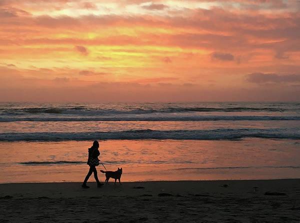 Photograph - Ocean Beach Sunset by Robert Woodward