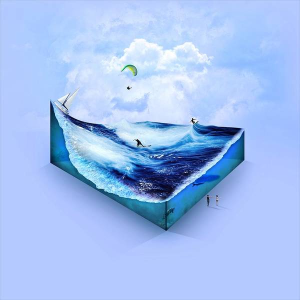 Wall Art - Digital Art - Ocean Box by ArtMarketJapan