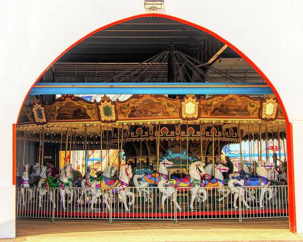 Photograph - Ocean City Carousel At Wonderland by Kristia Adams