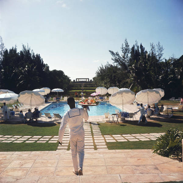 Swimming Pool Photograph - Ocean Club On Paradise Island by Slim Aarons