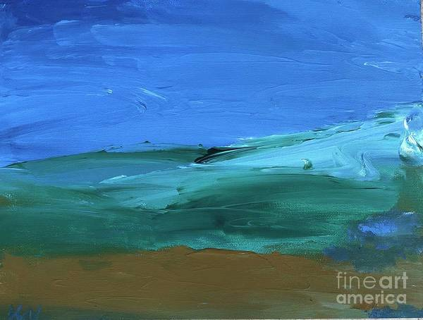 Painting - Ocean Meets Land by Karen Nicholson